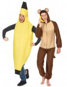 Aap en banaan koppelkostuum