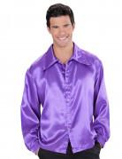 Satijnachtige paarse blouse voor mannen
