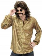 Goudkleurige disco blouse voor mannen