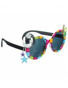 Veelkleurige disco bril voor volwassenen