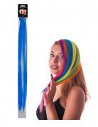 Blauwe haar extension clip