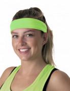 Groene fluo jaren 80 hoofdband voor volwassenen