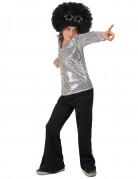 Zilverkleurig disco kostuum voor jongens
