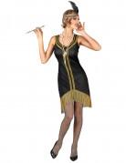 Zwart en goudkleurig charleston kostuum voor vrouwen