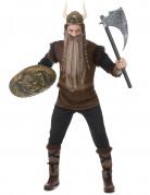 Bruin boze viking kostuum voor mannen