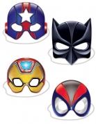 4 superhelden kartonnen maskers