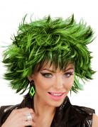 Zwarte en groene ruiten oorbellen voor vrouwen