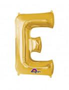 Enorme goudkleurige letter E ballon