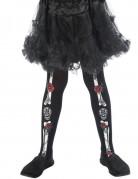 Skelet Dia de los Muertos panty voor kinderen