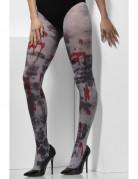 Bloederige zombie panty voor volwassenen