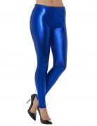 Metallic blauwe legging voor volwassenen