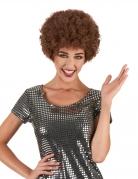 Bruine disco afropruik voor volwassenen