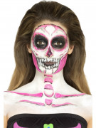 Fosforescerende latex skelet schmink voor vrouwen