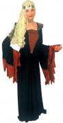 Klassieke middeleeuwse dame outfit voor vrouwen