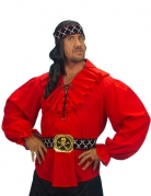 Rode piraten blouse voor mannen