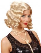 Blonde jaren 20 krullende pruik