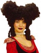 Zwarte Renaissance pruik voor vrouwen