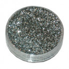 Zilverkleurig glitter poeder