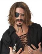 Bruine piraten snor en sik set