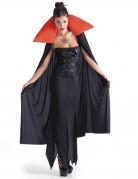 Rode en zwarte vampier cape voor vrouwen