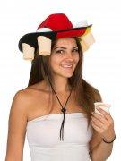 Bier hoed in de kleuren van de Duitse vlag