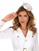 Witte matrozen haarband voor vrouwen