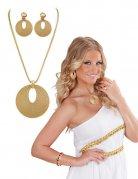 Goudkleurige Romeinse juwelen set voor vrouwen