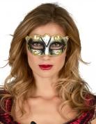 Goudkleurig Venetiaans glitter masker voor volwassenen