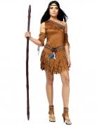 Bruin indiaan kostuum voor vrouwen