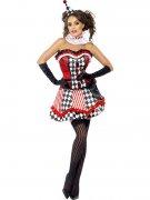 Clown outfit met korset voor dames
