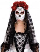 Dia de los Muertos masker met rozen voor volwassenen