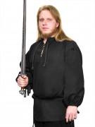 Zwart middeleeuws shirt voor mannen