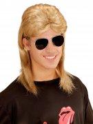 Jaren 80 pruik en bril voor mannen