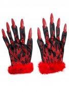 Sexy duivel handschoenen voor vrouwen