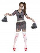 Grijs zombie cheerleader kostuum voor vrouwen