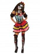 Dia de los Muertos kleurrijk kostuum voor vrouwen