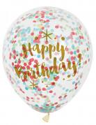 6 Happy Birthday confetti ballonnen
