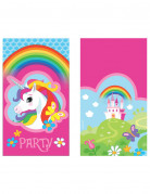 8 regenboog eenhoorn uitnodigingen en enveloppen