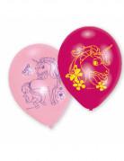 6 eenhoorn latex ballonnen