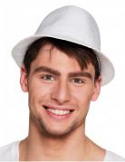 Witte borsalino hoed met lovertjes voor volwassenen