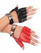 Tweekleurige rocker handschoenen voor vrouwen