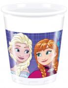 8 plastic Frozen™ Anna & Elsa bekers