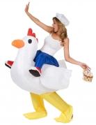 Opblaasbare kip kostuum voor volwassenen