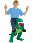 Groen dinosaurus carry me kostuum voor kinderen
