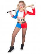 Psychopathische harlekijn kostuum voor vrouwen