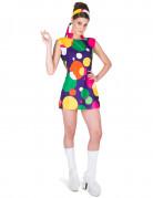 Disco pop kostuum voor vrouwen