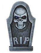 Lichtgevende doodskop grafsteen