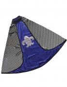 Luxe omkeerbare blauwe ridder cape voor jongens