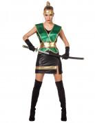 Groen ninja kostuum voor vrouwen