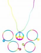 Veelkleurige hippie armbanden en ketting voor volwassenen